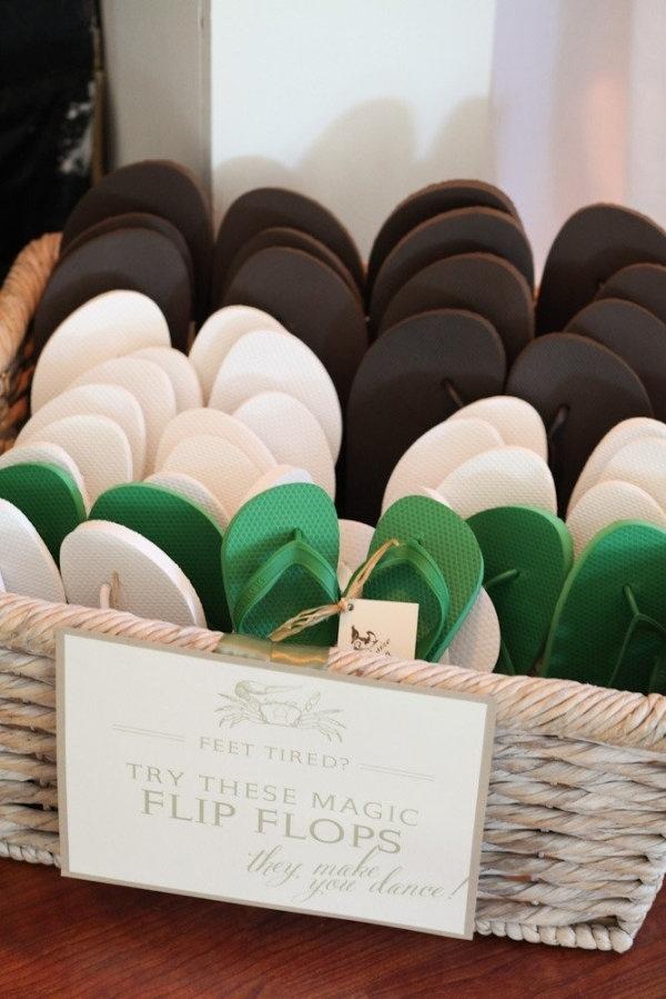 provide flip flops wedding reception ideas