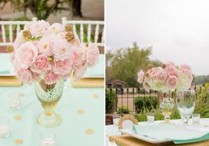 pink-mint-white-wedding